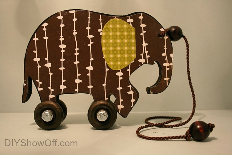 DIY vintage elephant toy decor