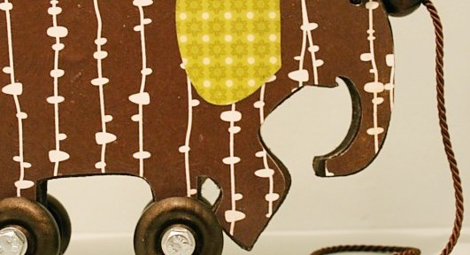 vintage elephant pull toy decor tutorial