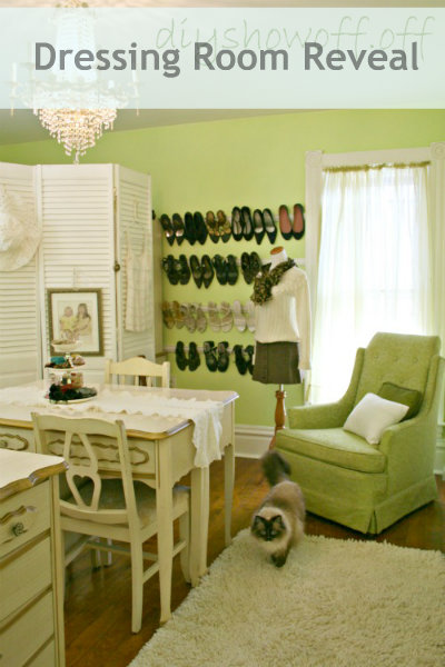 dressing room makeover, closet organization