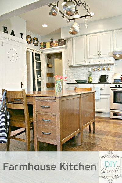 DIY Show Off farmhouse kitchen makeover