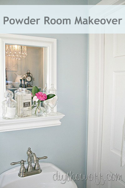 DIY half bathroom makeover, Benjamin Moore Smoke