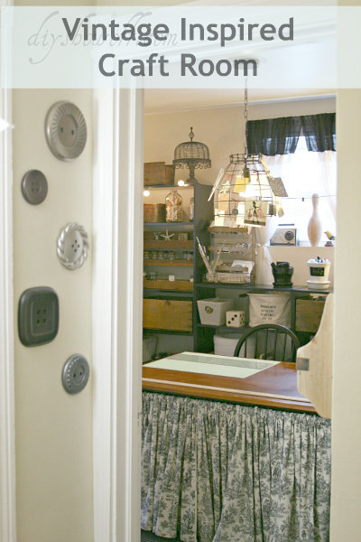 DIY Show Off vintage inspired craft room