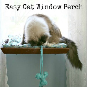 easy DIY cat window perch