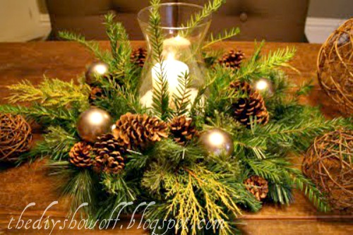 diy farmhouserustic christmas centerpieces - Rustic Christmas Centerpieces