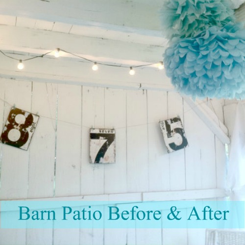 DIY Show Off Home Tour - barn patio