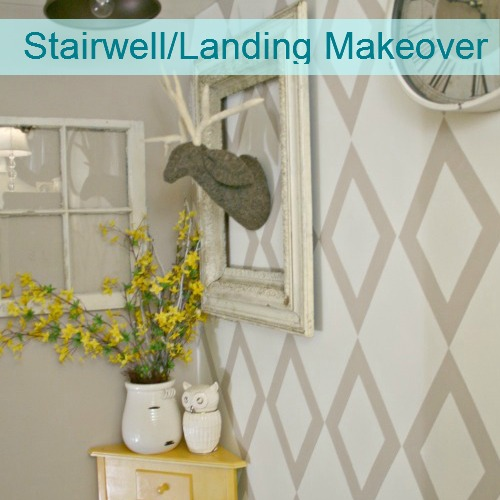 DIY Show Off Home Tour - stairwell landing makeover