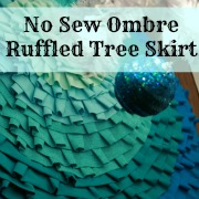 no sew ruffled ombre tree skirt