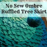 no sew ruffled ombre tree skirt