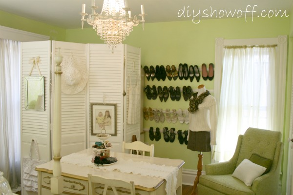 DIY dressing room, guest room