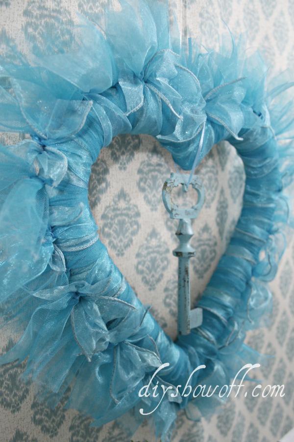turquoise Valentine wreath