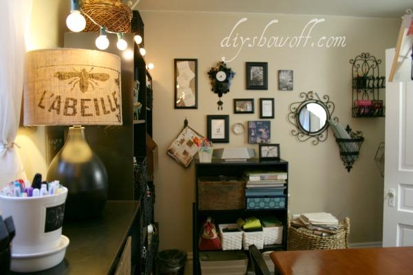 vintage craft room