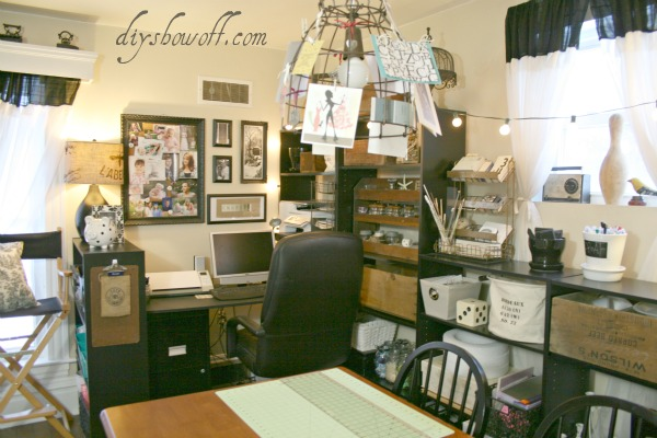 vintage craft room