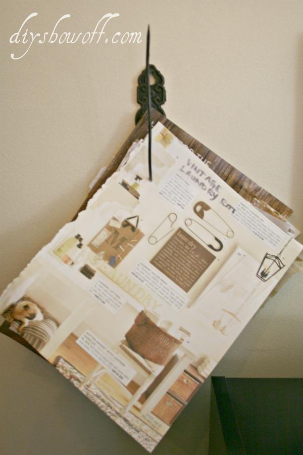vintage paper holder, wall mount