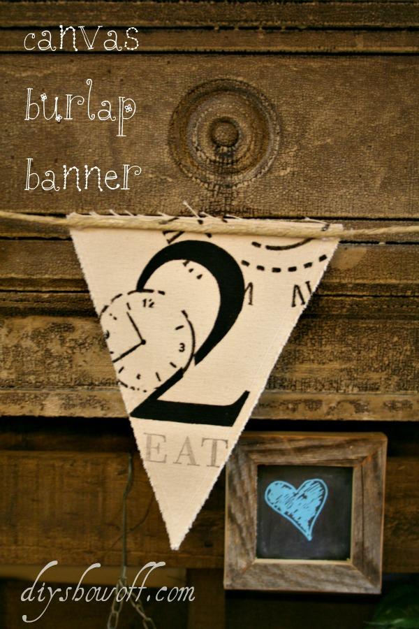 canvas burlap banner tutorial