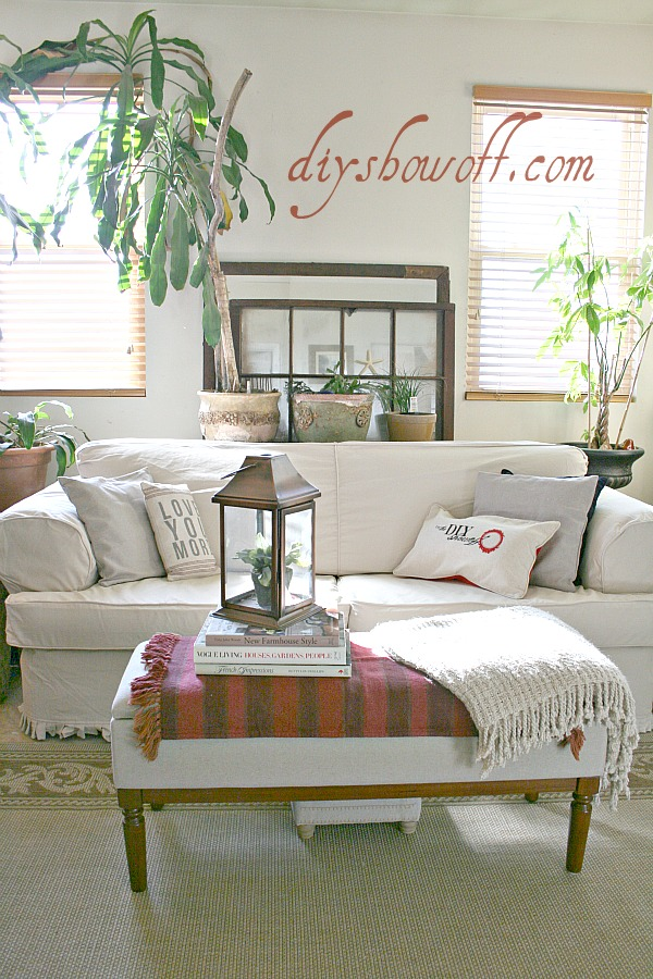 Comfort Works slipcover, living room, beach theme