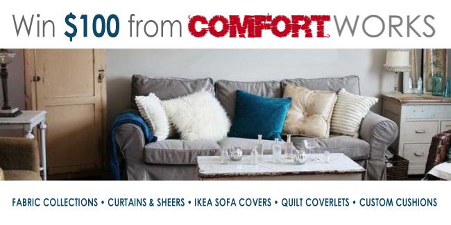 Comfort Works $100 giveaway logo