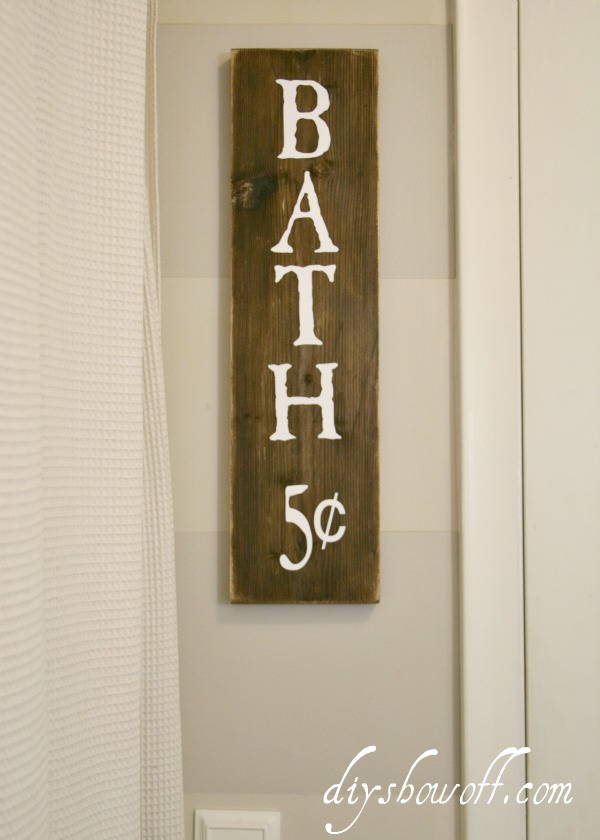 DIY bathroom sign