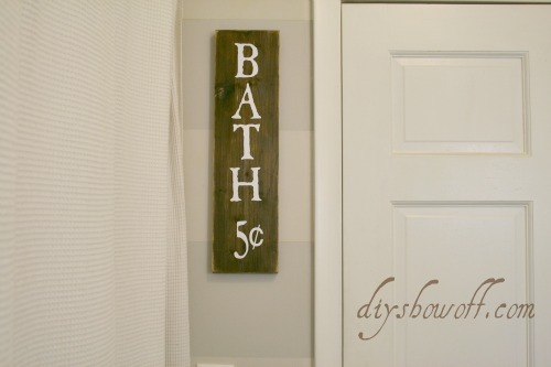 DIY bath sign