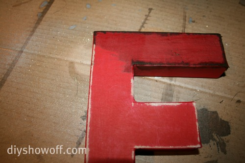 vintage inspired wall letters