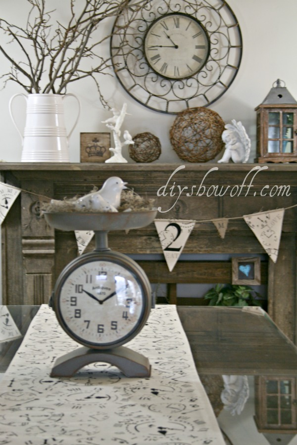 canvas burlap banner and table runner