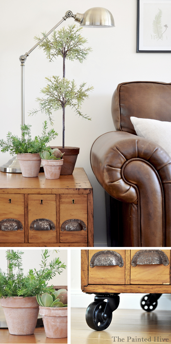 rustic, industrial living room makeover
