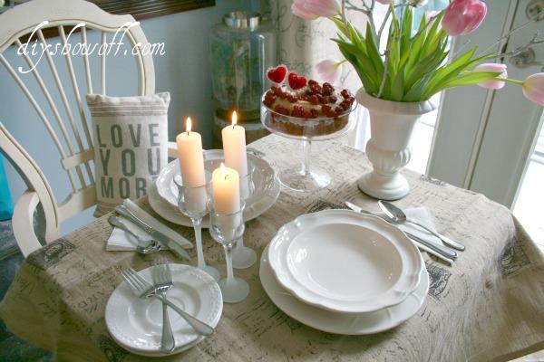 valentine's day, dining nook