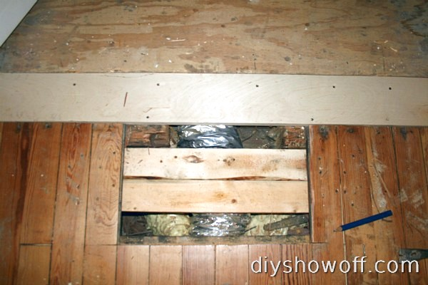 wood floor support and patch
