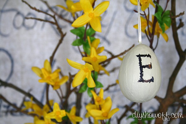 do it yourself paper mache Pottery Barn inspired Easter egg