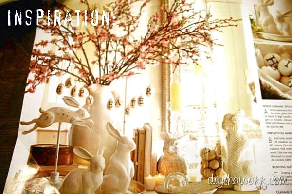 Pottery Barn Easter vignette