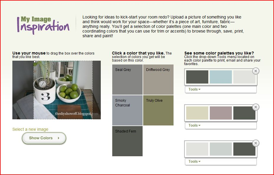 paint color inspiration, paint color tool, how to choose a paint color, room makeover
