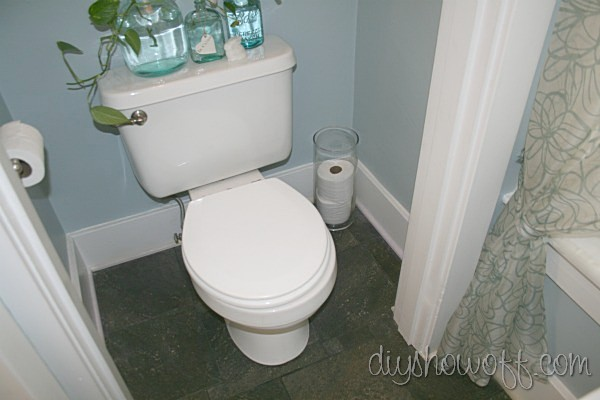 small bathroom makeover, toilet