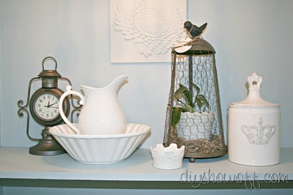 Farmhouse Powder Room Decor Bathroom Accents