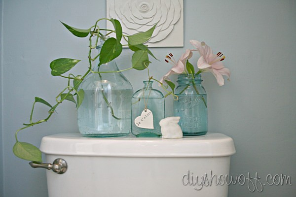 spring decorated bathroom