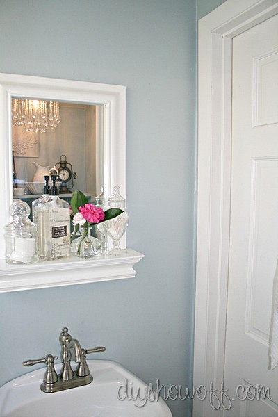 Beautiful powder room before and after