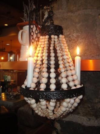 DIY wooden ball chandelier tutorial