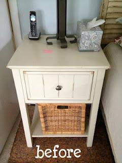 white nightstand before