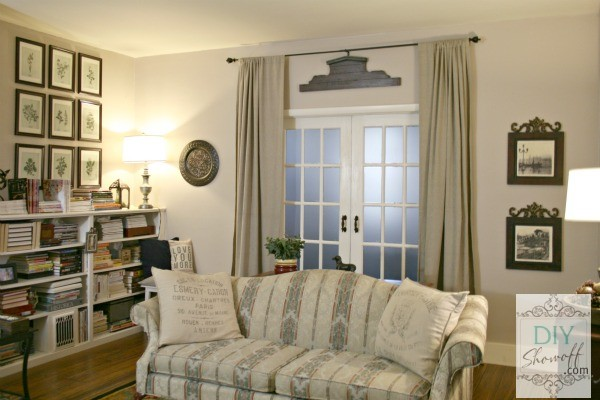 living room diy projects. eclectic traditional living room DIY Project Parade and Wallpaper for Windows Giveaway  Show