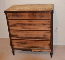 distressed wooden dresser before