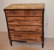 distressed wooden dresser before