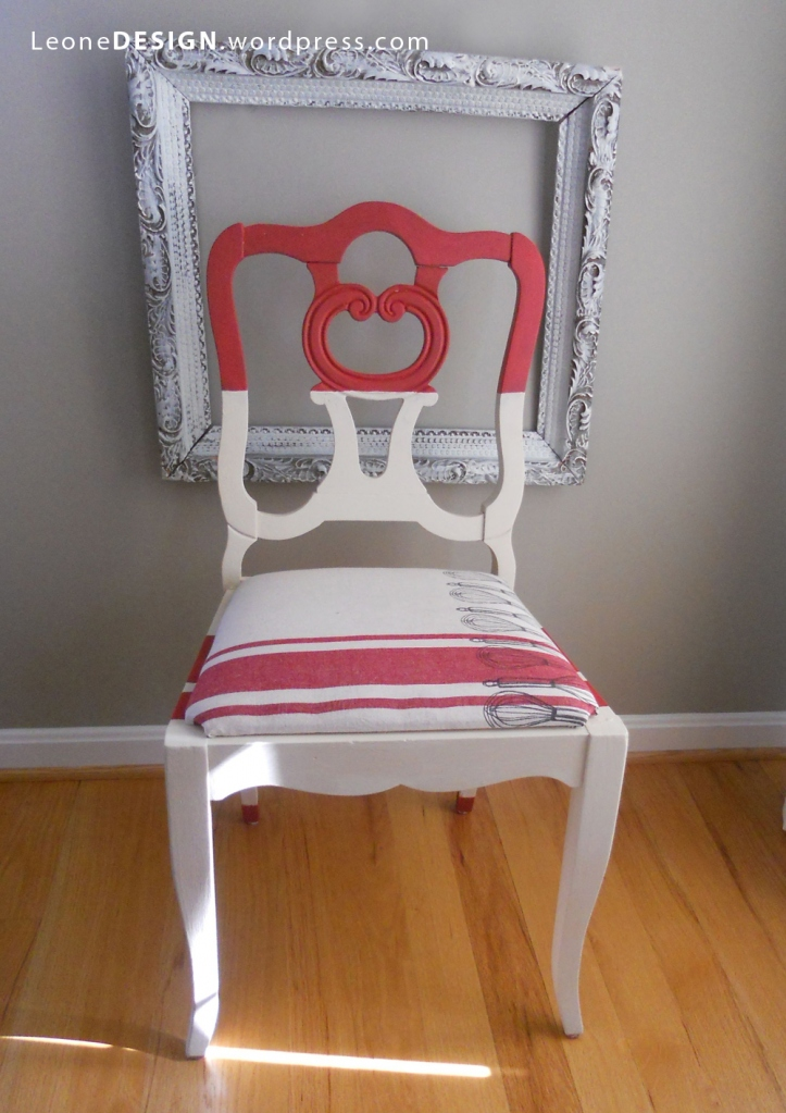 red and white, antique chair, towel, furniture