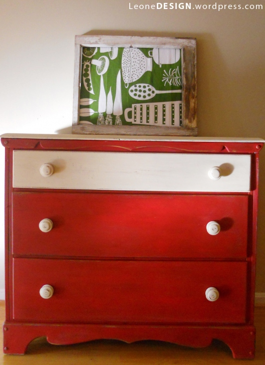 two toned painted dresser