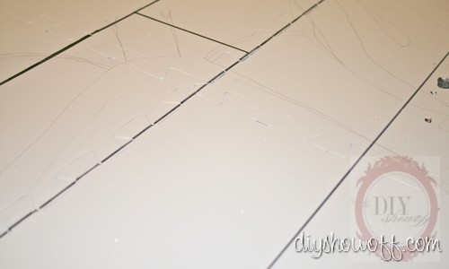DIY painted playmat, tutorial, kitchen mat