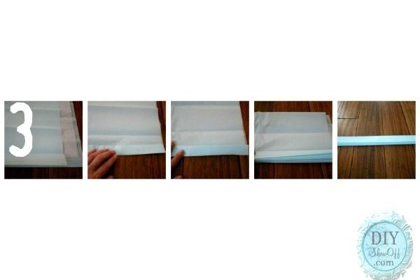 accordion tissue paper
