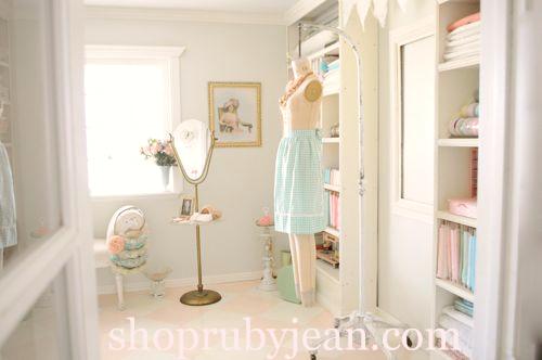 vintage sewing room
