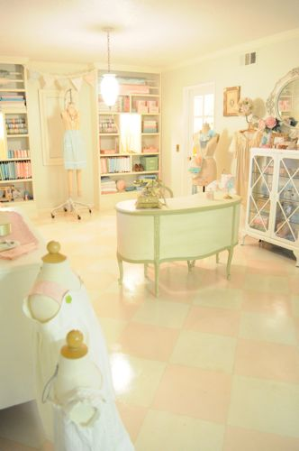 boutique inspired sewing room