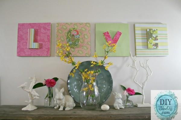 3d L O V E Letters Styrofoam Wall Art Tutorial Diy Show Off