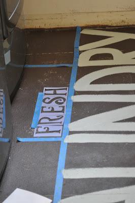 subway art laundry room floor