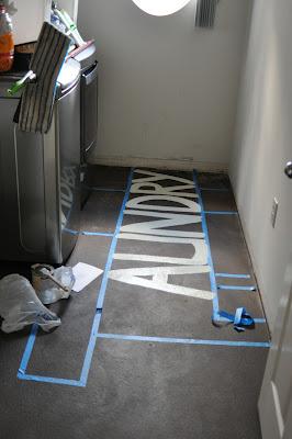 subway art painted floor tutorial