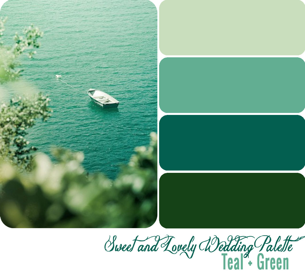 teal and green color inspiration