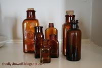 vintage brown glass